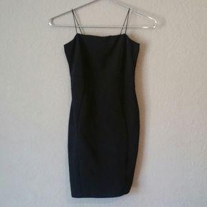 Windsor Black Bodycon Dress Spaghetti Strap Dress